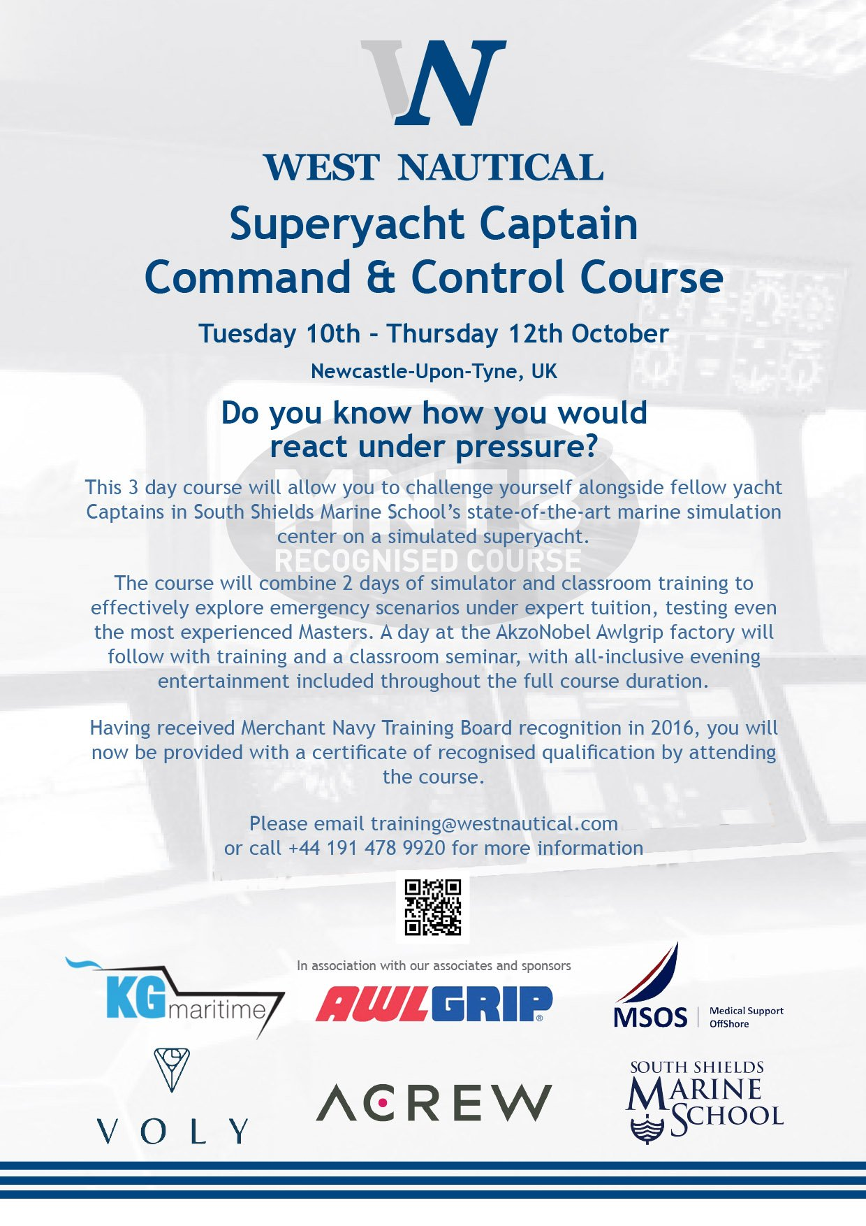 10% OFF CAPTAIN'S COMMAND AND CONTROL TRAINING COURSE 2017