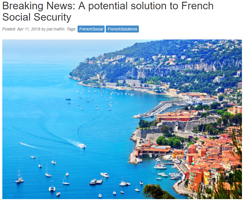 Breaking News: A potential solution to French Social Security