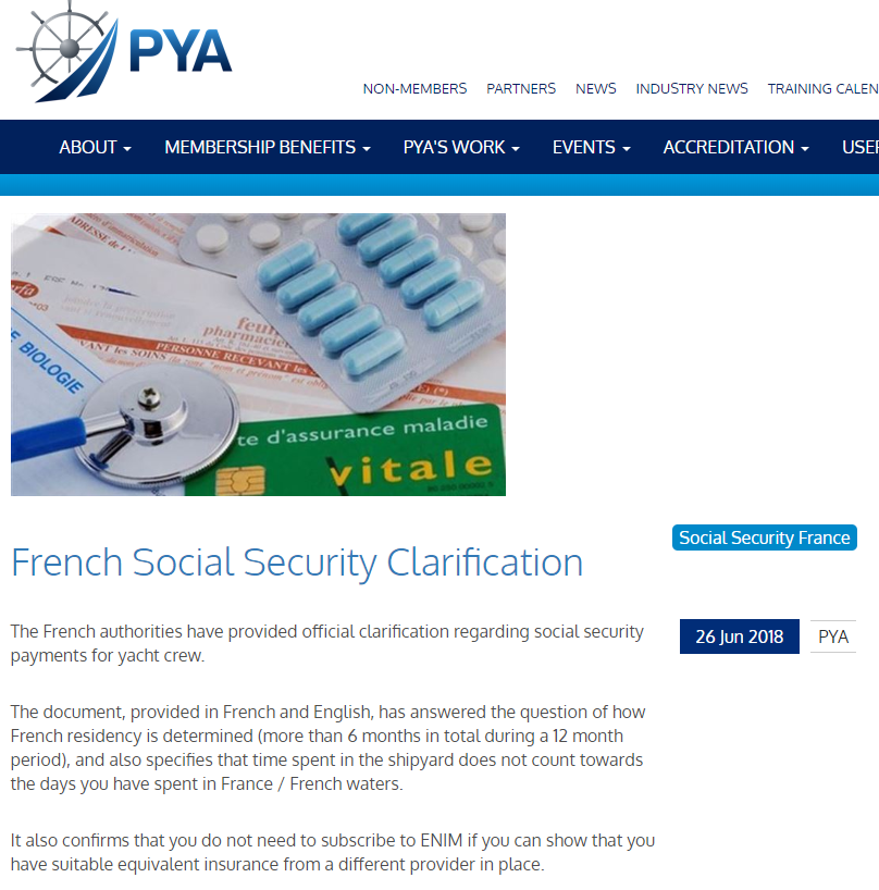 French Social Security Clarification