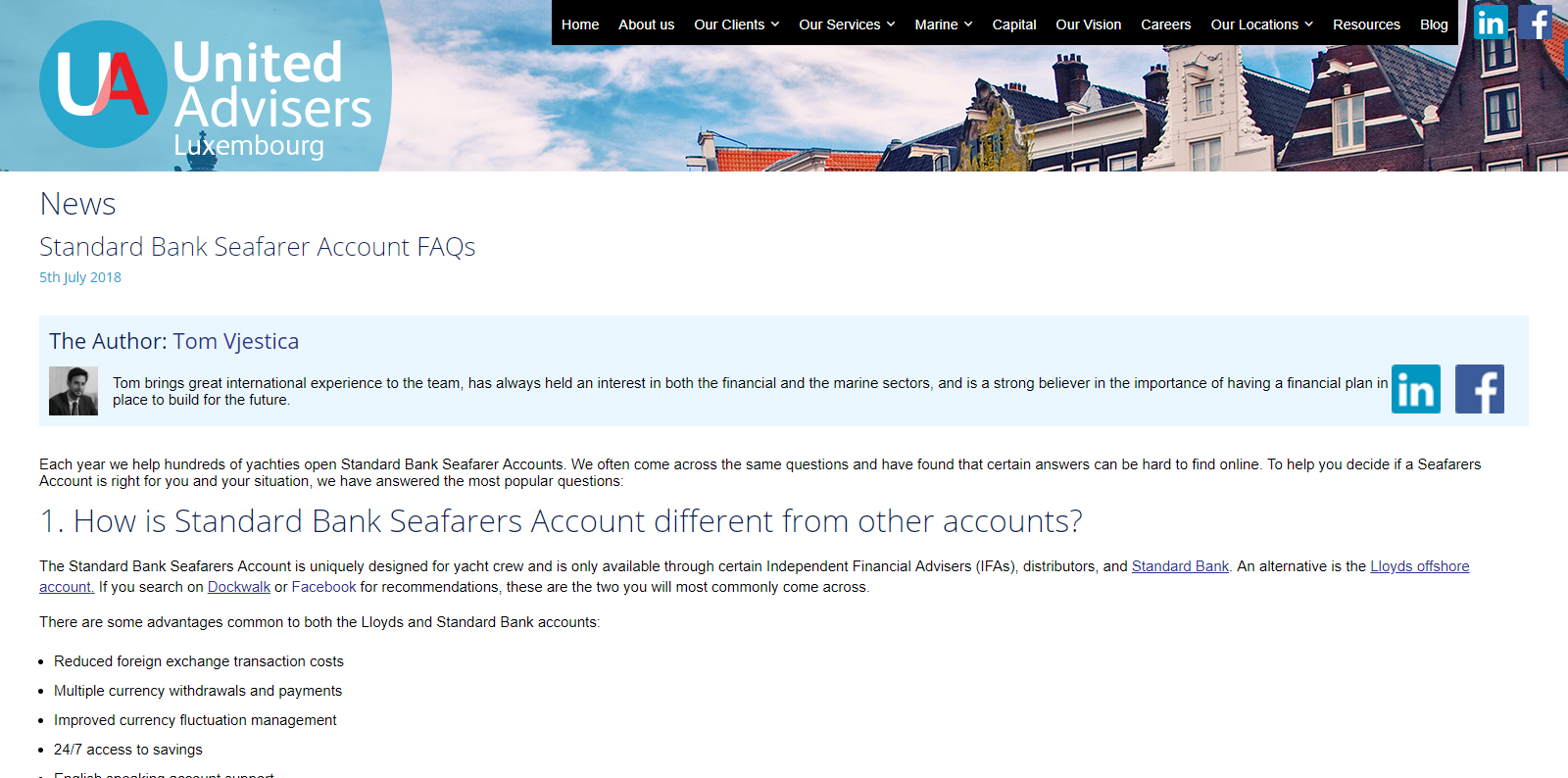 Standard Bank Seafarer Account FAQs