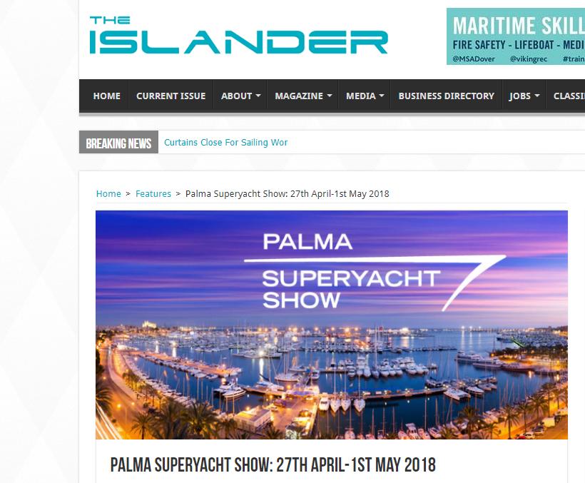 Palma Superyacht Show: 27th April-1st May 2018