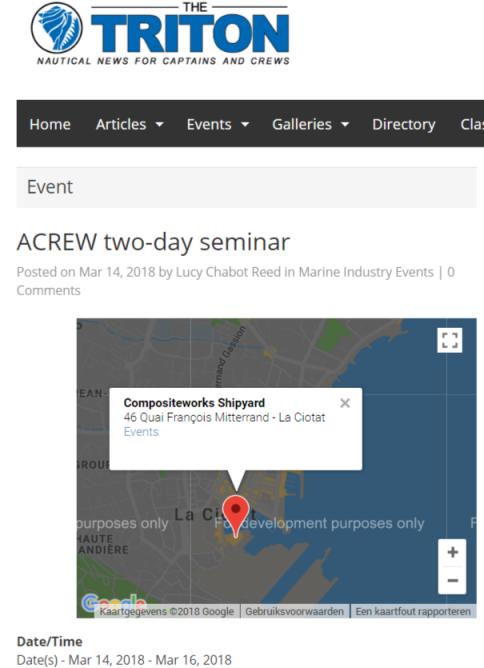 The Triton – ACREW two-day seminar
