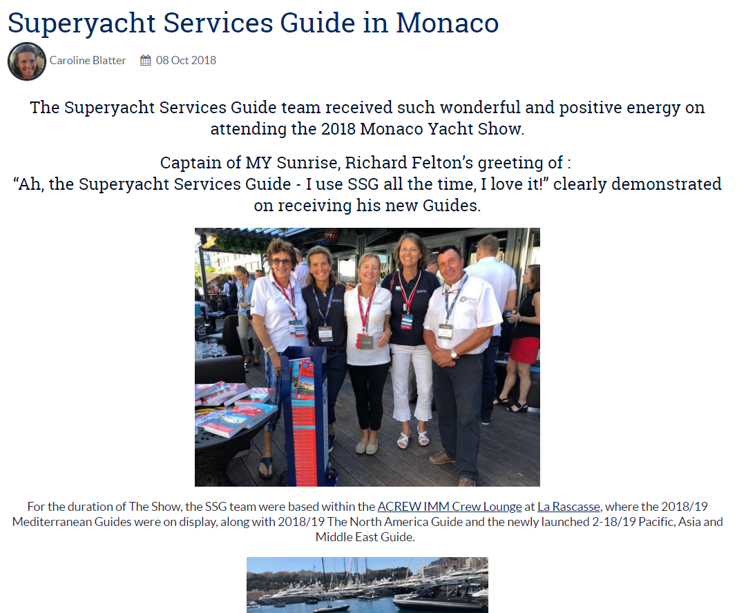 Superyacht Services Guide in Monaco