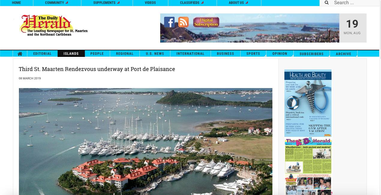 Third St. Maarten Rendezvous underway at Port de Plaisance