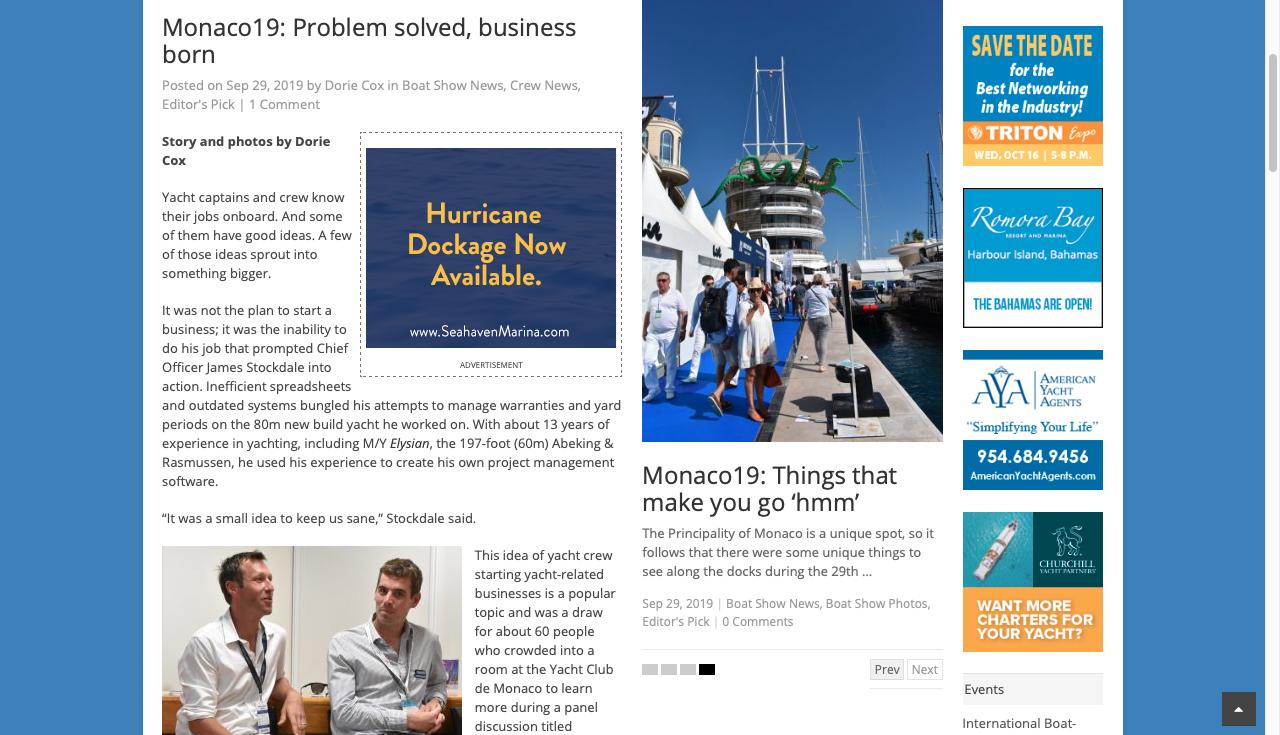 Monaco19: Problem solved, business born