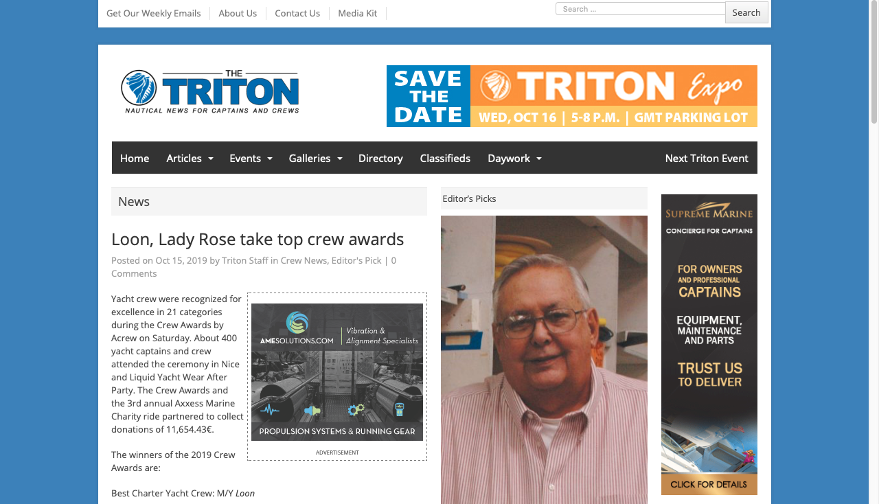 Loon, Lady Rose take top crew awards