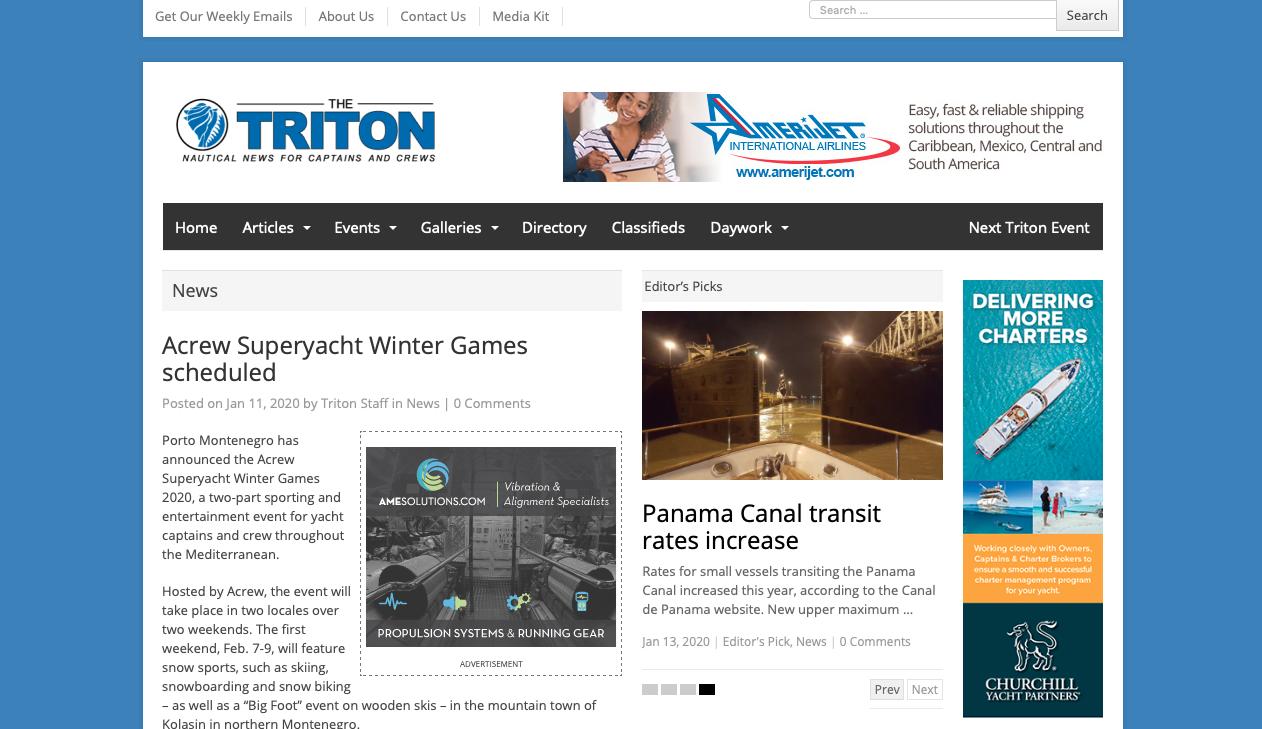 ACREW Superyacht Winter Games scheduled