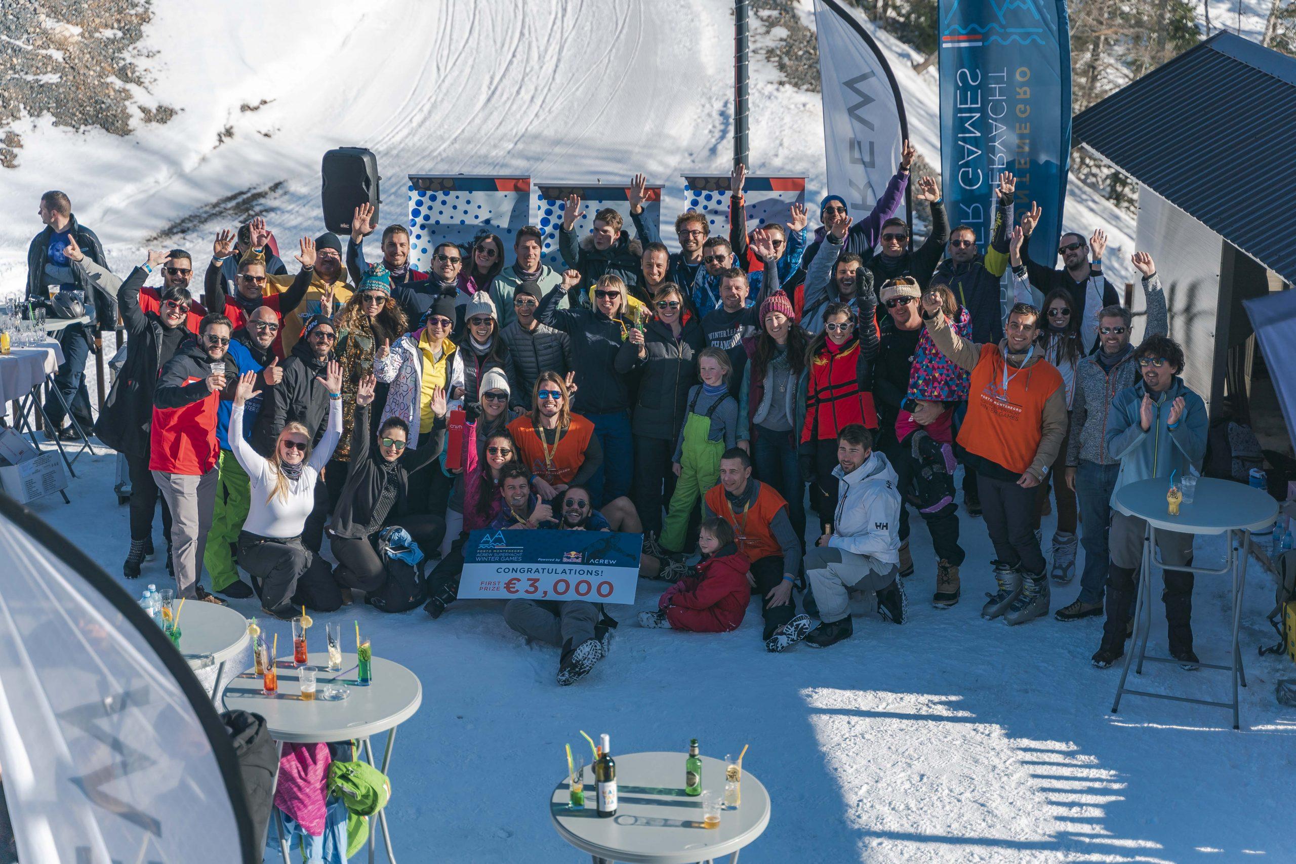Fun Crew Weekend on the slopes with Porto Montenegro