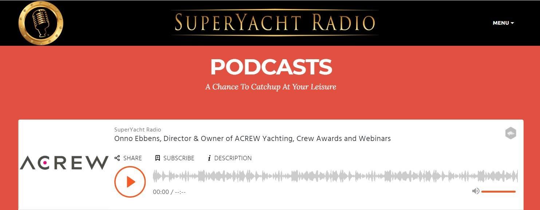 Onno on Superyacht Radio