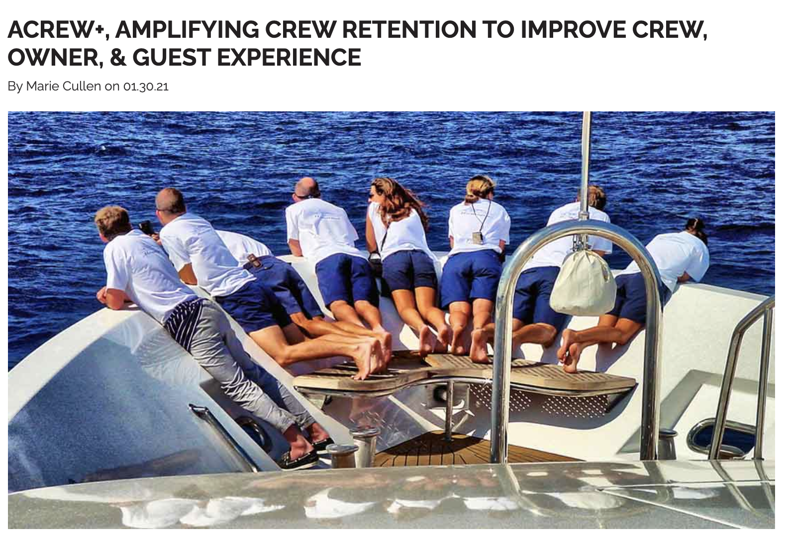 ACREW+, AMPLIFYING CREW RETENTION TO IMPROVE CREW, OWNER, & GUEST EXPERIENCE